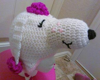 Crochet Fifi hat Snoopy's girlfriend crochet dog hat