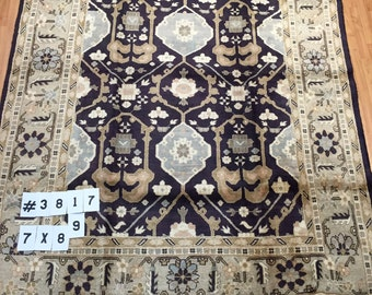 """7' x 8'9"""" Persian Sultanabad Oriental Rug - Hand Made - 100% Wool"""