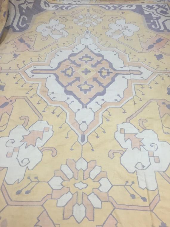 "11'3"" x 15' Turkish Kilim Oriental Rug - Palace Sized - Hand Made - Two Sided - 100% Wool"