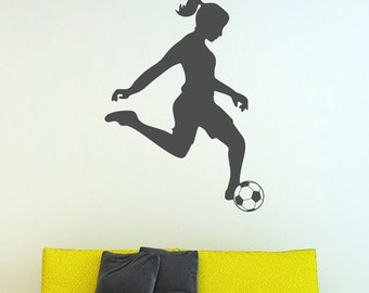 Soccer Girl Vinyl Wall Decal