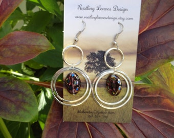 Concentric Hoops and Polka Dots Earrings
