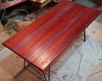 Pipe coffee table etsy for Purple coffee table
