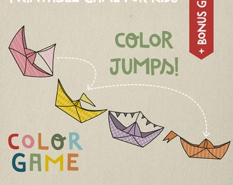 Color game for kids, learning colors preschool, educational game, printable gift for kids, printable game. Instant download!