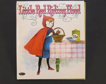 LITTLE Red RIDING HOOD Whitman Tell a Tale book June Goldsborough 1964  hardback New!!!