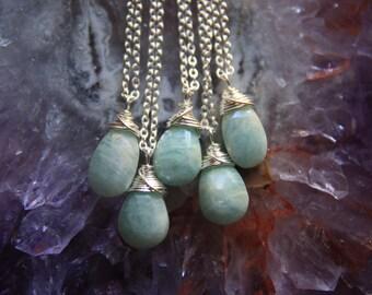 Silver Amazonite Necklace