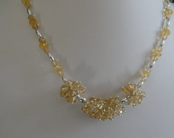 Citrine necklace and earring set  -   #460