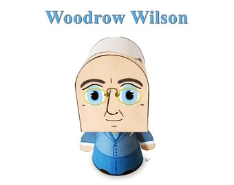 President Woodrow Wilson Paper Toy Model w/Movable Parts