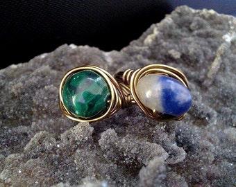Brass Gemstone Ring
