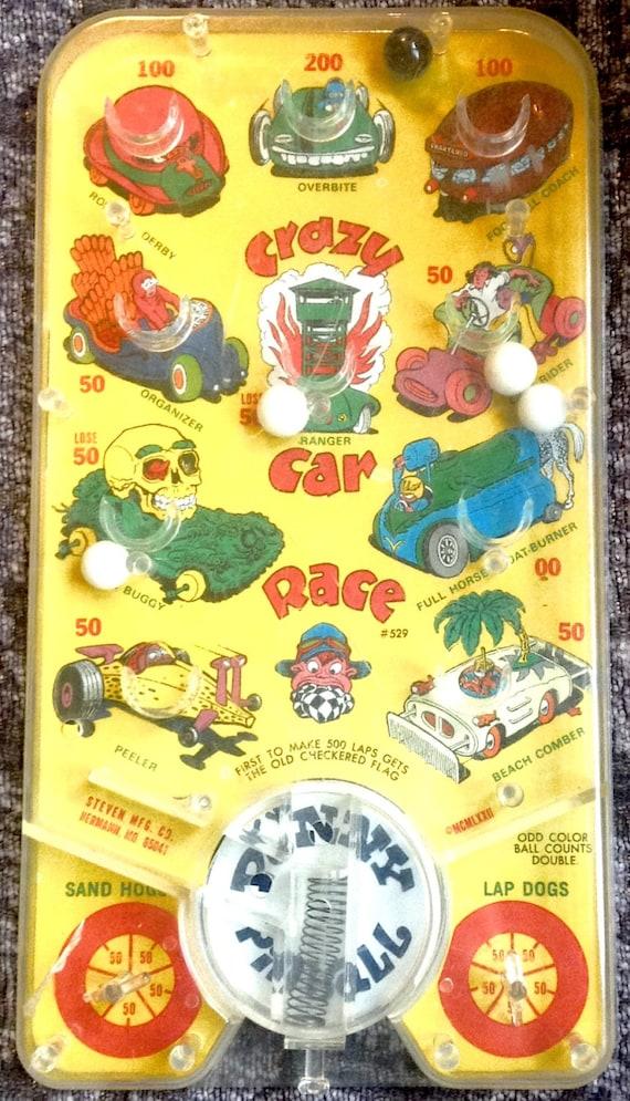 Crazy Car Race Antique Pinball Game
