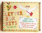 Childrens Craft Kit - Fruit Tart Jewellery Making Kit - Kids Craft Kit - DIY Craft Kit