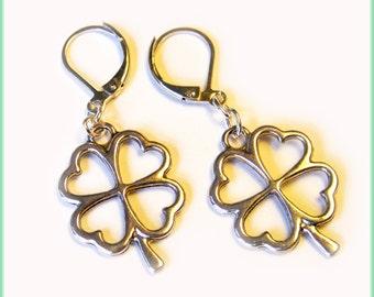 Earrings with Clover Girl Gift for Her for Women St Patricks Say
