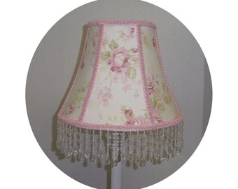 Pristine Rose Shabby Chic Lamp Shade