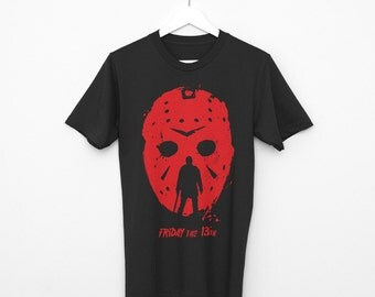 Alternative friday the 13th jason t-shirt black-gray men 100% cotton single jersei geek horror movie apparel