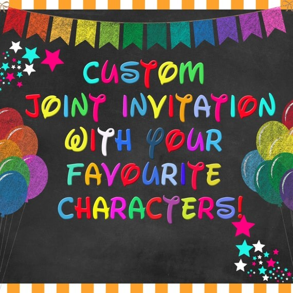 custom joint kids' birthday invitations  personalized double, Birthday invitations