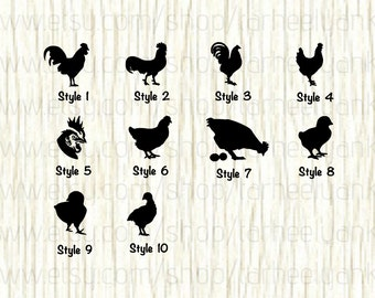 Rooster Car Decal, Chicken Car Decal, Hen Car Decal, Chick Car Decal, Rooster Head Decal,Bird Decal,Farm Decal,Show Animal Decal,Farm Animal