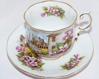 Queens Rosina Teacup Tea Cup and Saucer Nova Scotia Bone China English Bone China. - 471