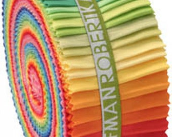 Kona® Cotton Jelly Roll Up, New Bright Palette
