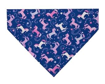 Unicorn Dog Bandana, Dog Bandanna, Pet Bandana, Pet Scarf / Celestial Unicorns