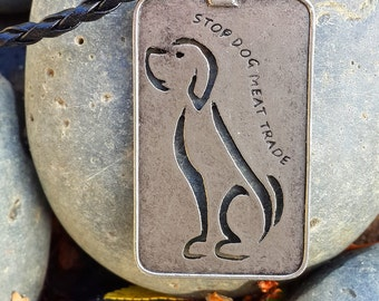 Dog Tag Necklace - Stop Dog Meat Trade
