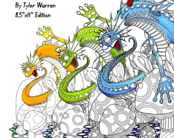 "Level Up!  A Progressive Adult Coloring Book - Creative Coloring from Calm to Complex 8.5"" x 11"" Edition"