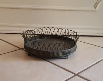 metal wire decorative tray