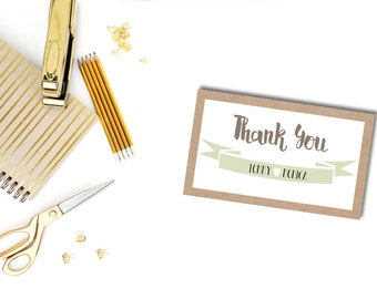 Printable Kitchen Themed Thank You Cards
