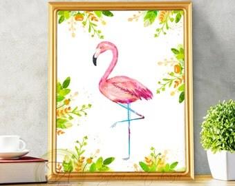 Flamingo, Flamingo Print, Flamingo Art, Pink Flamingo Art, Modern Flamingo, Flamingo Home Decor, Flamingo Decor, Flamingo wall art,
