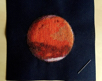 Mars Cross Stitch Pattern Instant Download PDF