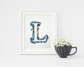 Letter Initial Art, Custom Decor Sign, Paper Quilling Art, Personalized Gift For Couple, Wedding Gift, Paper Quill, Personalized Nursery Art