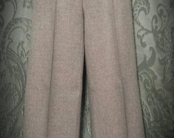1970s Bobbie Brooks cuffed wide leg tan tweed pants size 28 waist.Ships free