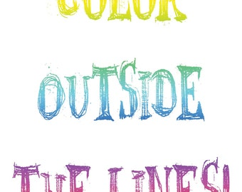 Color Outside White Background.. Printable JPEG!