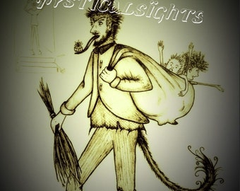 Krampus vintage-type postcard