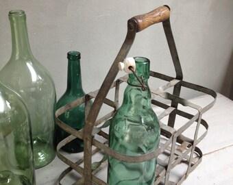 Old bottle rack