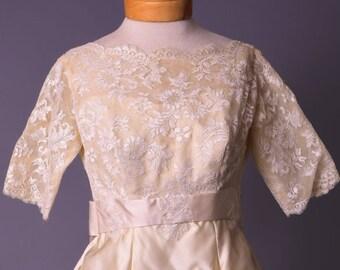 Vintage 1950's wedding dress/ Miss I.M. Lacey wedding gown (#33)