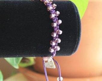 Purple Bollywood Macrame Bracelet
