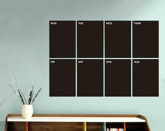 Weekly Planner Black Chalkboard Contact Paper