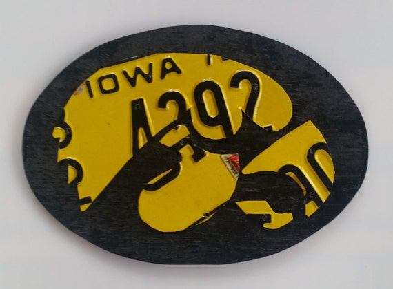 Iowa hawkeye wall art home decor hanging for Iowa hawkeye decor