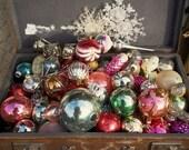 Russian Vintage Christmas toys 1960s . Set 4 pcs