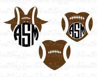 Bows and Footballs SVG Design for Silhouette and other craft cutters (.svg/.dxf/.eps/.pdf)