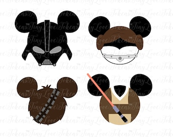 Disney Star Wars Bundle SVG Design for Silhouette and other craft cutters (.svg/.dxf/.eps/.pdf)