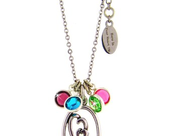 A Mother's Heart Birthstone Necklace
