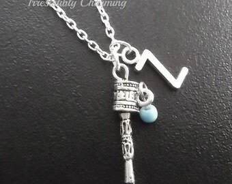 On sale.......Silver plated prayer wheel necklace, monogram personalized custom gifts under 10 item No.721