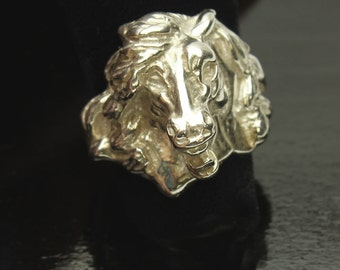 Horse Silver Ring Mustang in Sterling Silver Equine Band