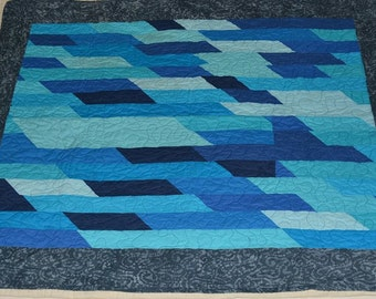 Ice Blue Jellyroll Quilt