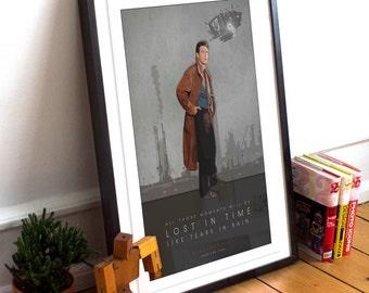 Blade Runner Inspired Movie poster print - Unique movie poster illustration. fan art
