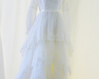 Vintage 50's tiered Wedding Dress