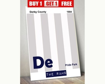 Derby County print, Derby County wall art, The Rams, Derby County prints