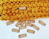Wooden Tags, Custom Personalized Tags, Engraved tags for knitted, Knitting Buttons, Craft Buttons, Business Tags