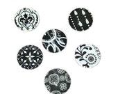 Stunning black white glass magnet set - strong magnet set - memo board magnets - co woker gift idea - office decor
