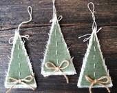 Christmas tree decoration, Burlap Christmas ornament, Rustic Christmas Home Decor, Christmas garland